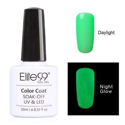 PinKart-USA Online Shopping 6716 Elite99 10Ml Night Glow In Dark Nail Gel Polish Fluorescent Luminous Nail Polish Lacquer 24 Candy