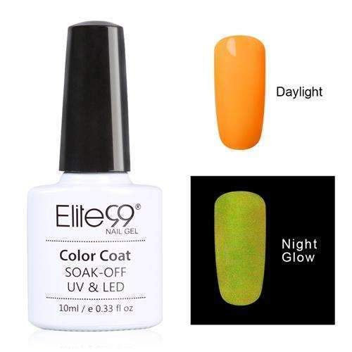 PinKart-USA Online Shopping 6718 Elite99 10Ml Night Glow In Dark Nail Gel Polish Fluorescent Luminous Nail Polish Lacquer 24 Candy