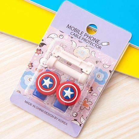 PinKart-USA Online Shopping 7 1Pc Fashion Cute Cartoon Usb Cable Protector Cover Case For Apple Iphone Android Charger Data