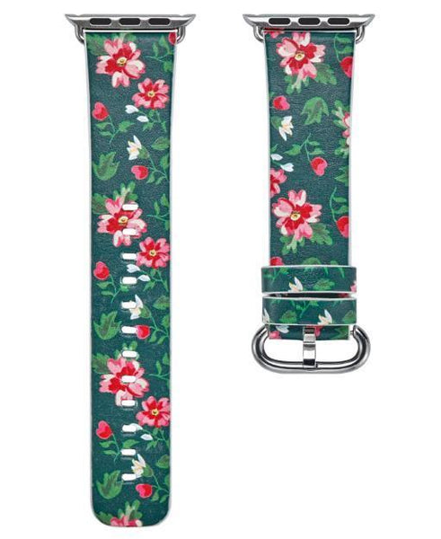PINkart-USA Online Shopping 7 / 38mm Flower Gift Christmas Pattern Leather Strap For Apple Watch Band 42 38 40 44Mm Iwatch Series