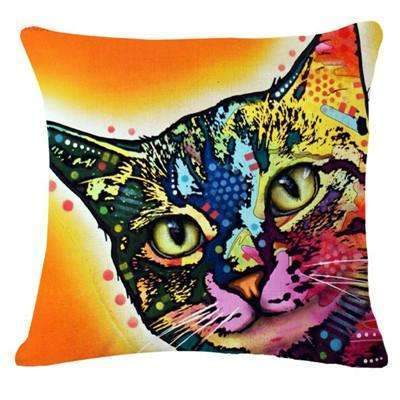 PinKart-USA Online Shopping 7 / 43x43cm Fashion Cushion Cat Print Pillow Bed Sofa Home Decorative Pillow Fundas Para Almofadas