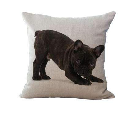 PinKart-USA Online Shopping 7 / 45x45cm No Filling Miracille 18Cotton Linen French Bulldog Digital Print Square Decorative Throw Pillow Cushions For