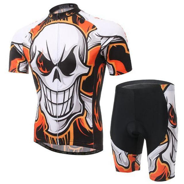 PINkart-USA Online Shopping 7 / L Skull Style Summer Cycling Clothing/Short Sleeve Cycling Jersey Ropa Ciclismo/Mtb Bike Jersey