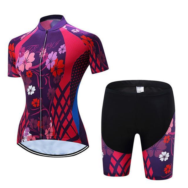 PINkart-USA Online Shopping 7 / L Teleyi Leisure Outdoor Women'S Cycling Jersey Set Sport Bicycle Cycling Clothing Ropa Ciclismo