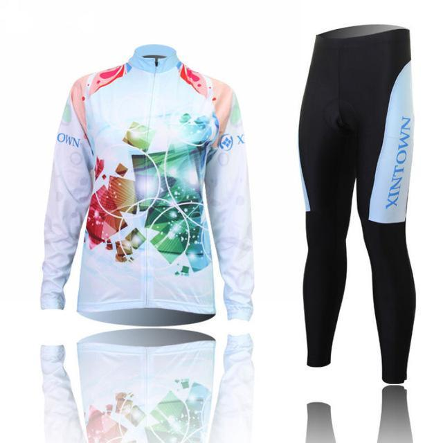 PINkart-USA Online Shopping 7 / L Women'S Cycling Jersey Sets Winter Long Sleeve Mtb Bicycle Cycling Clothing Maillot Ciclismo
