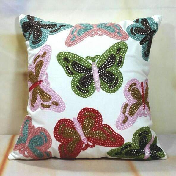 PinKart-USA Online Shopping 7 no filling Hot National Style Sofa /Carcushions Flowers And Fashion Pillows Decorate Hand-Embroidered