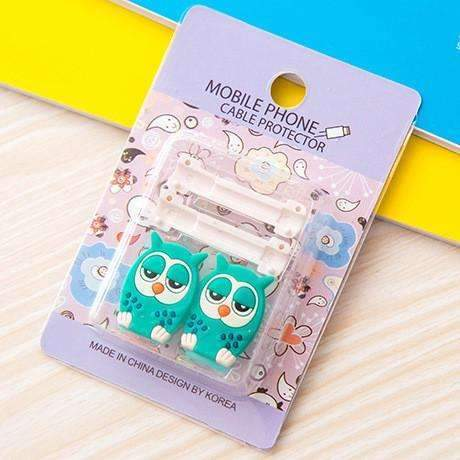 PinKart-USA Online Shopping 8 1Pc Fashion Cute Cartoon Usb Cable Protector Cover Case For Apple Iphone Android Charger Data