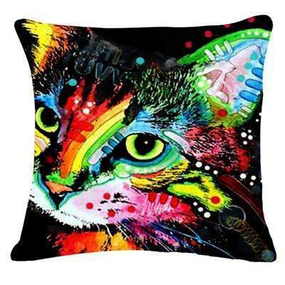 PinKart-USA Online Shopping 8 / 43x43cm Fashion Cushion Cat Print Pillow Bed Sofa Home Decorative Pillow Fundas Para Almofadas