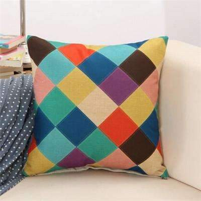 PinKart-USA Online Shopping 8 / 43x43cm Rubihome Cushion Without Inner Creative Geometric Polyester Square Home Decor Sofa Car Seat