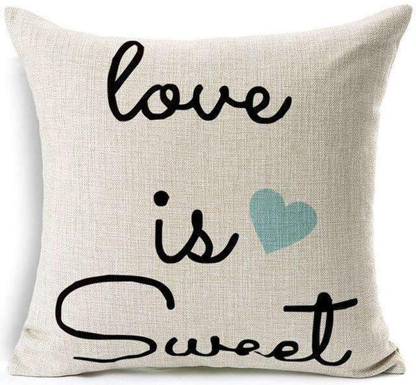 PinKart-USA Online Shopping 8 / 45x45 cm Hyha Fashion Funny Words Pillowcase Geometric Letter Pillow Cases Home Simple Colorful Words