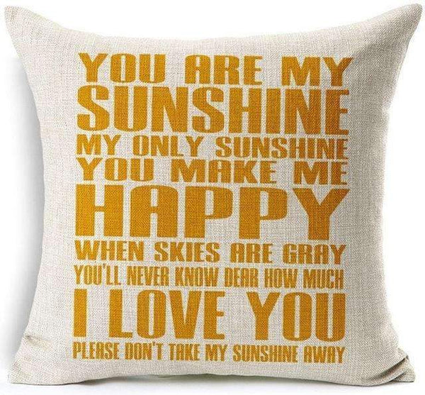 PinKart-USA Online Shopping 8 / 45x45 cm Hyha Funny Words Pillow Case Home 45X45 Cm Pillows Sea Sun Sand Style Pillowcases Home Pillows