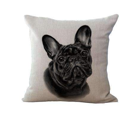 PinKart-USA Online Shopping 8 / 45x45cm No Filling Miracille 18Cotton Linen French Bulldog Digital Print Square Decorative Throw Pillow Cushions For