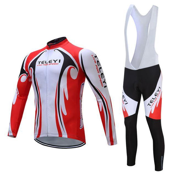 Teleyi Long Sleeve Cycling Jersey Sets Ropa Ciclismo Mtb Bike Jersey Cycling Clothing Maillot