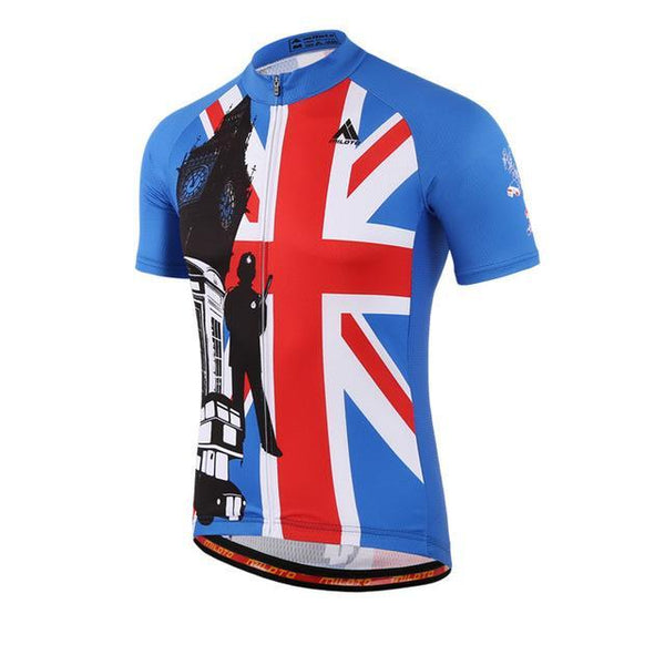 Uk Style Mens Bike Team Cycling Jersey Tops Short Sleeve Cycling Clothing Ropa Ciclismo Mtb Bicycle