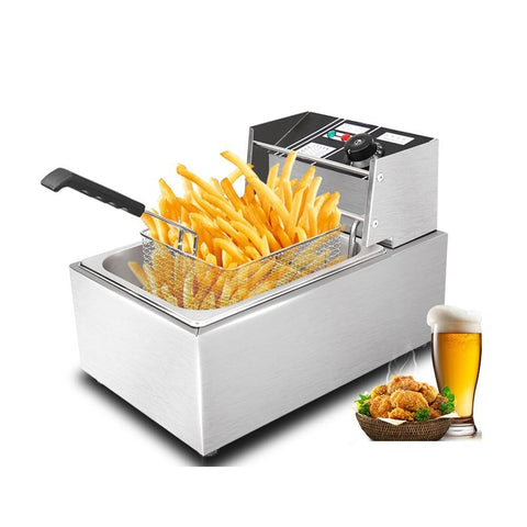 8L Electric Deep Fryers Chicken Potato Chip Frying Machine Stainless Steel Commercial Fryer With