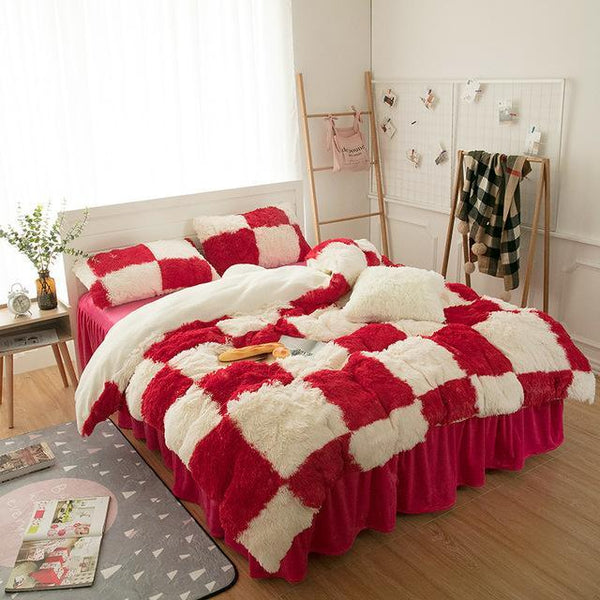 PINkart-USA Online Shopping 9 / 120x200cm Princess Girls Bedding Set Thick Fleece Warm Winter Bed Set King Queen Twin Size Duvet Cover