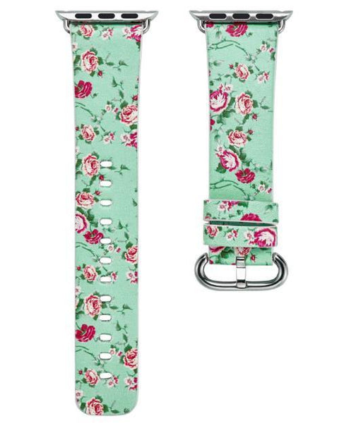 PINkart-USA Online Shopping 9 / 38mm Flower Gift Christmas Pattern Leather Strap For Apple Watch Band 42 38 40 44Mm Iwatch Series