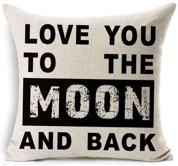 PinKart-USA Online Shopping 9 / 45x45 cm Hyha Fashion Funny Words Pillowcase Geometric Letter Pillow Cases Home Simple Colorful Words