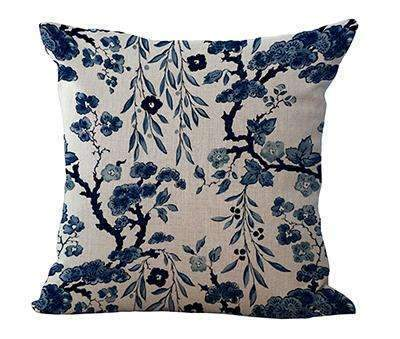 PinKart-USA Online Shopping 9 / 45x45cm Square 18 Linen Cushion Blue And White Porcelain Printed Home Decorative Cushions Almofada For