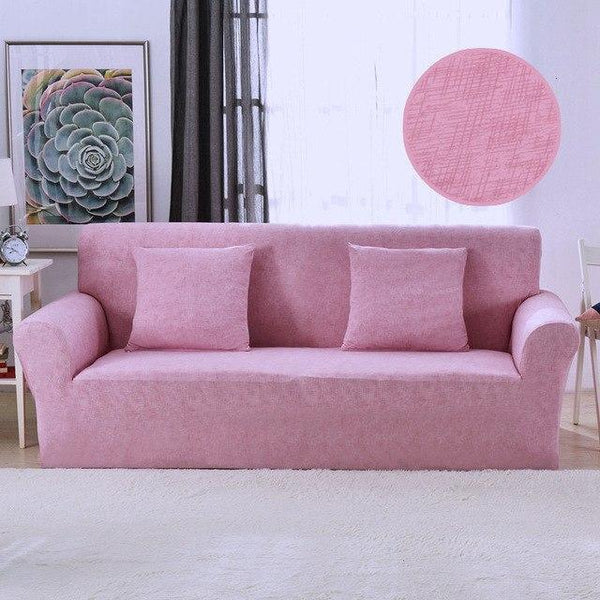 PINkart-USA Online Shopping 9 / Four-Seater Solid Color Spandex Stretch Sofa Cover Stripe Protective All-Inclusive Slipcovers Removable Elastic