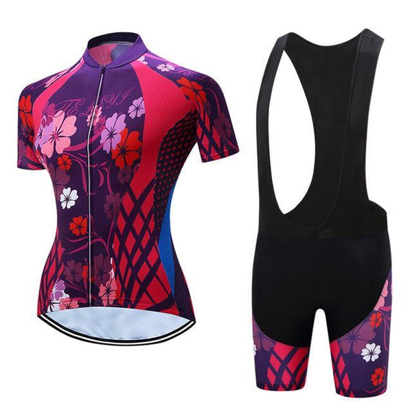 PINkart-USA Online Shopping 9 / L Teleyi Leisure Outdoor Women'S Cycling Jersey Set Sport Bicycle Cycling Clothing Ropa Ciclismo