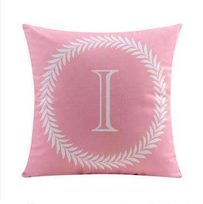 PinKart-USA Online Shopping 9 no filling / 45x45cm 26 Letters Cushions Decorative Pillow Almofada Colorful Pillow Linen Cotton Throw Pillow Cushion Fo