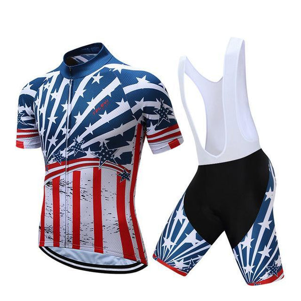 PINkart-USA Online Shopping 9 / S Teleyi Brand Pro Team Racing Sport Cycling Jersey Sets Men Usa Style Mtb Road Bike Jersey Quick Dry