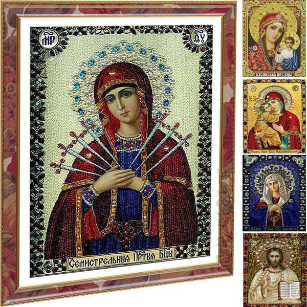 PinKart-USA Online Shopping A 5D Picture Of Rhinestones Diamond Embroidery Religion Diy Diamond Painting Diamond Mosaic Resin