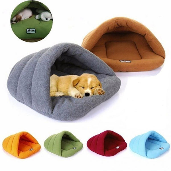 PINkart-USA Online Shopping A / L Soft Fleece Winter Warm Pet Dog Bed 4 Different Size Small Dog Cat Sleeping Bag Puppy Cave Bed Free
