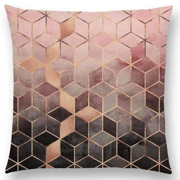 PinKart-USA Online Shopping a003617 / 45x45cm No Filling Hot Sale Abstract Nature Ornate Crystal Gradient Colorful Cubes Dazzling Diamond Geometric