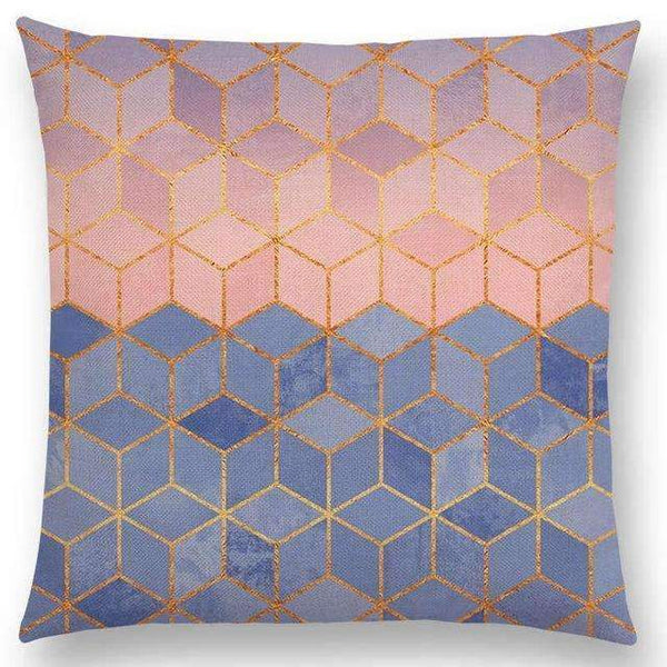 PinKart-USA Online Shopping a003618 / 45x45cm No Filling Hot Sale Abstract Nature Ornate Crystal Gradient Colorful Cubes Dazzling Diamond Geometric