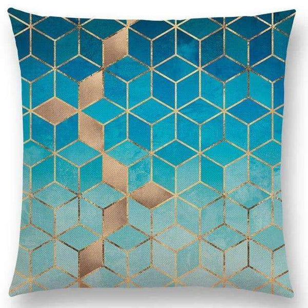 PinKart-USA Online Shopping a003619 / 45x45cm No Filling Hot Sale Abstract Nature Ornate Crystal Gradient Colorful Cubes Dazzling Diamond Geometric
