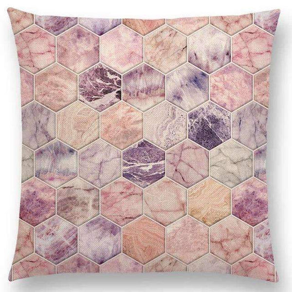 PinKart-USA Online Shopping a005203 / 45x45cm No Filling Hot Sale Gradient Rainbow Pastel Watercolor Moroccan Hexagon Pattern Colorful Gemstone Crystal Cube
