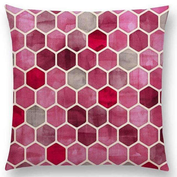 PinKart-USA Online Shopping a005205 / 45x45cm No Filling Hot Sale Gradient Rainbow Pastel Watercolor Moroccan Hexagon Pattern Colorful Gemstone Crystal Cube