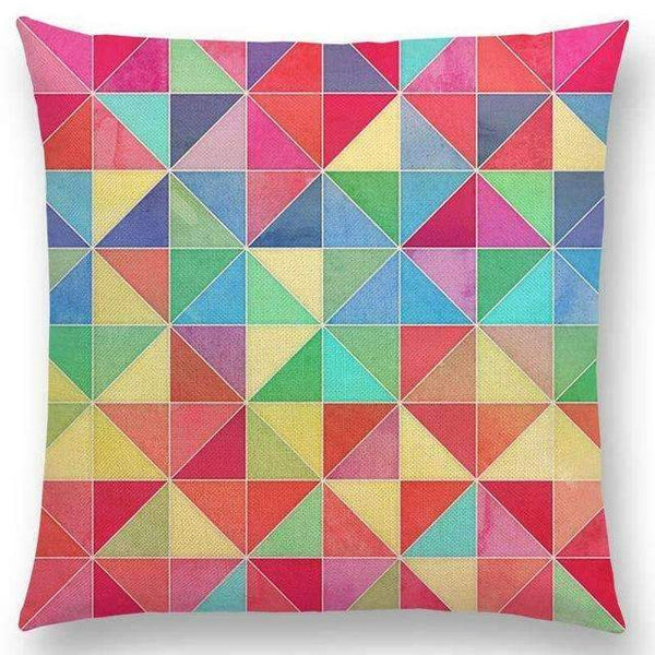 PinKart-USA Online Shopping a005208 / 45x45cm No Filling Hot Sale Gradient Rainbow Pastel Watercolor Moroccan Hexagon Pattern Colorful Gemstone Crystal Cube
