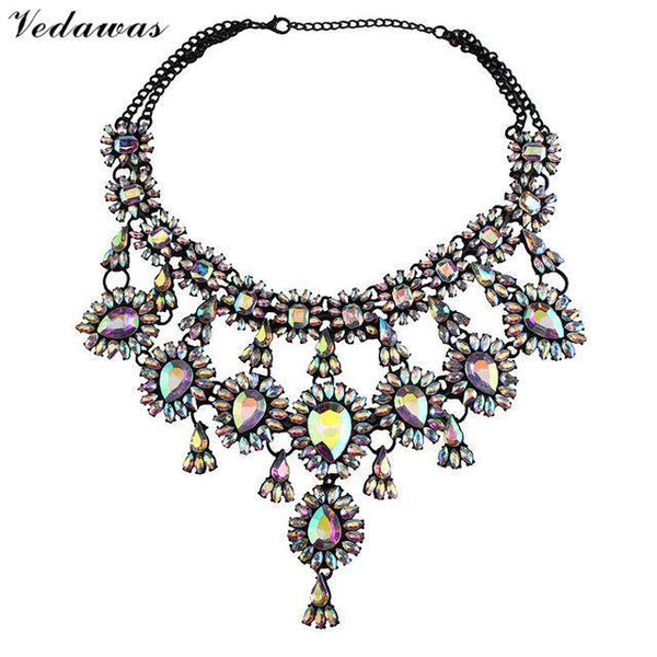 PinKart-USA Online Shopping AB Multicolor Tassel Style Crystal Rhinestone Beads Luxury Collar Choker Necklace&Pendant Fashion