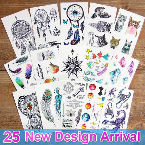 PinKart-USA Online Shopping AC100 3D Dream Catcher Waterproof Temporary Tattoos Dreamcatcher Flash Tattoo Stickers Body Art For
