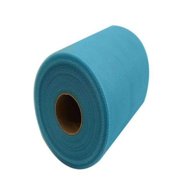 PinKart-USA Online Shopping ACID BLUE 60 Color Pick Wedding Tulle Roll Spool Fabric 6Inch*100Yards Baby Grils Skirt Tutu Tulle Roll Gift