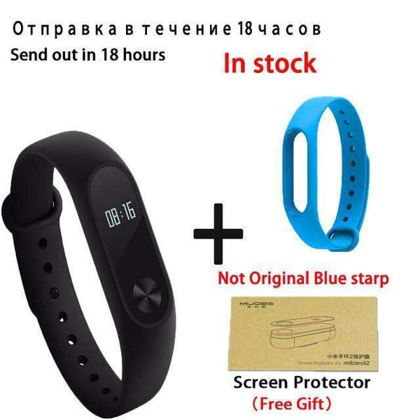 PinKart-USA Online Shopping add blue starp Original Xiaomi Mi Band 2 Smart Bracelet Wristband Tracker Fitness Mi Band Oled Touchpad Sleep