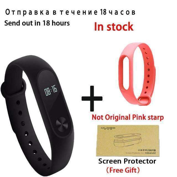 PinKart-USA Online Shopping add Pink starp Original Xiaomi Mi Band 2 Smart Bracelet Wristband Tracker Fitness Mi Band Oled Touchpad Sleep