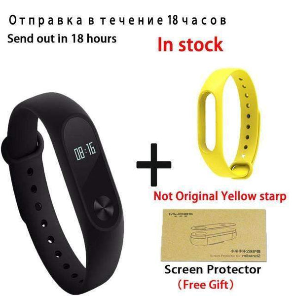 Original Xiaomi Mi Band 2 Smart Bracelet Wristband Tracker Fitness Mi Band Oled Touchpad Sleep