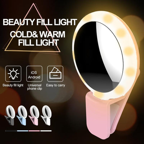 PinKart-USA Online Shopping Advanced 20 Bulbs Cold+Warm+Mix Light Makeup Mirror Flash Selfie Light Lamp Led Selfie Flash
