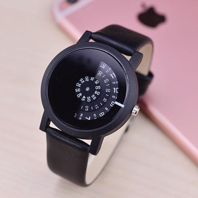 PINkart-USA Online Shopping All black / China Creative Design Wristwatch Camera Concept Brief Simple Special Digital Discs Hands Fashion Quartz