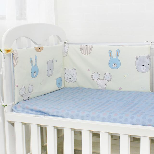 Baby Bed Bumper Soft Breathable Cartoon Pattern Baby Crib Protector For Children Croth To The Cot