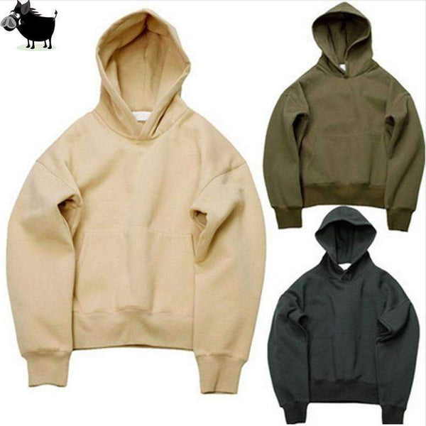 PinKart-USA Online Shopping Army Green / L Man Si Tun Quality Nice Hip Hop Hoodies With Fleece Warm Winter Kanye West Hoodie Sweatshirt
