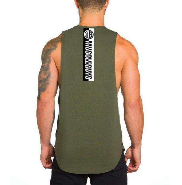 PINkart-USA Online Shopping Army Green / L Muscle Guys Fitness Tank Top Men Bodybuilding Clothing Men Sleeveless Shirt Golds Vests Cotton Gyms