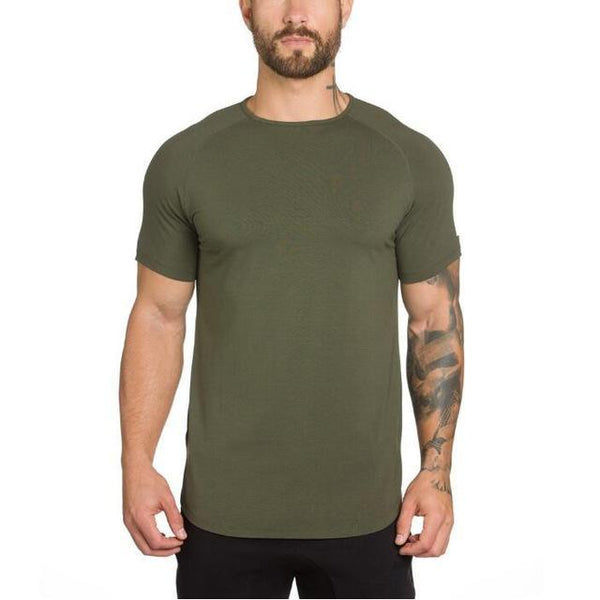 PINkart-USA Online Shopping Army Green / L New Brand Clothing Gyms Tight T-Shirt Mens Fitness T-Shirt Homme Golds T Shirt Men Fitness