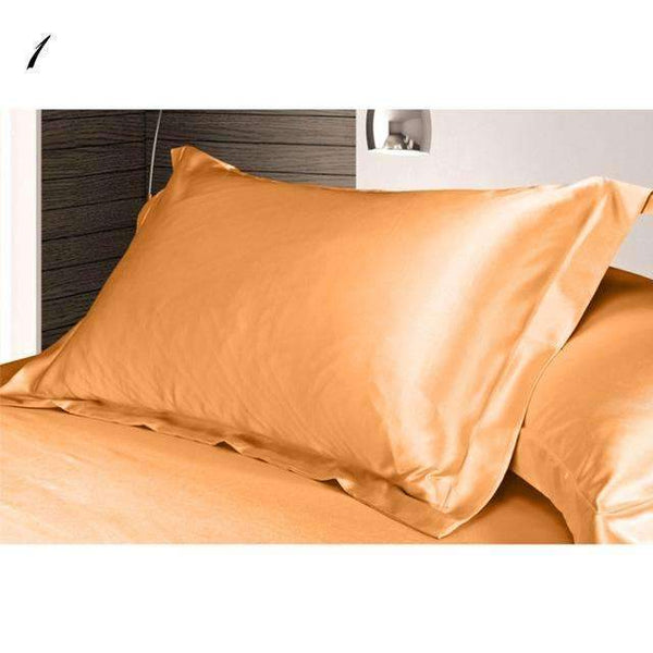 PinKart-USA Online Shopping as 1Pc Pure Emulation Silk Satin Pillowcase Single Pillow Cover Multicolor 48*74Cm