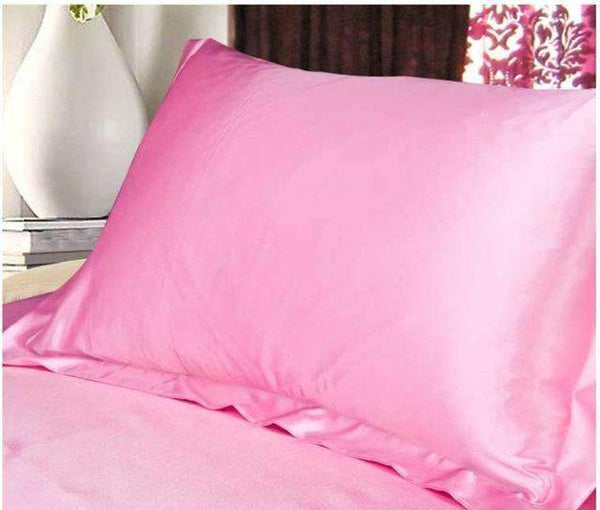 PinKart-USA Online Shopping as 3 1Pc Pure Emulation Silk Satin Pillowcase Single Pillow Cover Multicolor 48*74Cm