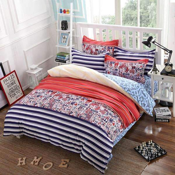PinKart-USA Online Shopping AS 4 / Full Classic Active Bedding Set /Comforter Set/ Duvet Cover Set/ Bed Sheet